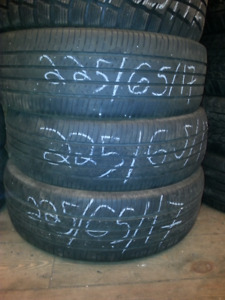 225/65R17 used tires set of 3