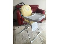 Argos High Chair in Lemon