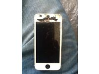 iPhone 5 cracked screen(works fine)
