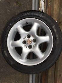 One MG wheel & tyre