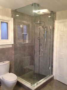 Frameless Shower Glass Doors Enclosures bathtubs - Mirrors etc. Kitchener / Waterloo Kitchener Area image 3