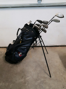 Full set of rh clubs and stand bag