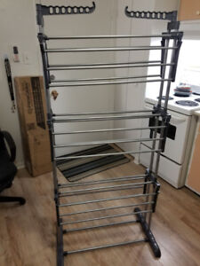 """66"""" Laundry Clothes Storage Drying Rack Folding Dryer Hanger"""