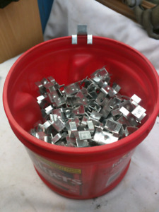 Coffee can of three-quarter inch H clips