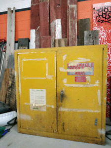 Flammable cabinet used