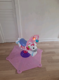 Fisher Price Bounce and Spin Horse
