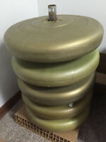 Mint Condition 125lbs Plastic Weight Plates