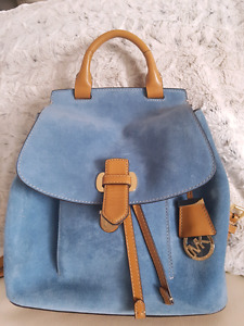 Michael kors romy medium suede backpack handbag purse bag mk
