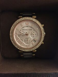 "Rose gold Michael Kors ""Parker"" watch"