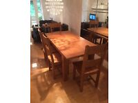 Chiltern Grand Oak Extending Dining Table - 1400-1800mm and 4 Dining Chairs