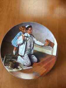 "Norman Rockwell ""The Painter"" Collectable Plate"