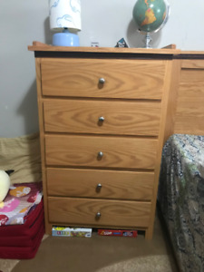Matching Chest of Drawers and Headboard (Solid Wood)