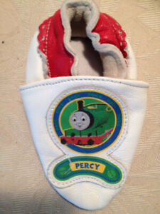 New Thomas the Tank Engine 'Percy' Infant's  Leather Slippers