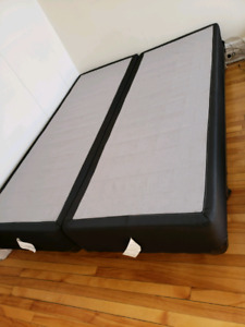 Box spring and frame - queen size bed