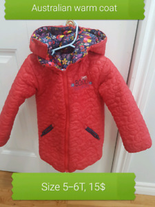 Girls coat 2 sides