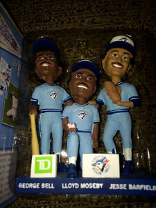 Blue Jays Triple Bobblehead - Bell Barfield Moseby '85 Outfield'
