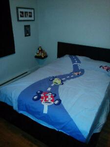 Housse couette / couvre-oreiller voitures de course pour enfant