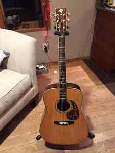 Mountain Acoustic guitar with pickup and hardshell case