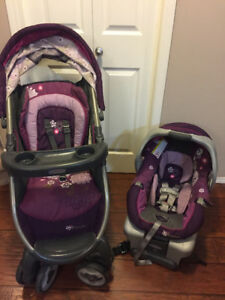 graco minnie mouse car seat and stroller combo