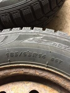 NEW PRICE 185/65/R14 WINTER TIRES FOR SALE!!!! Kitchener / Waterloo Kitchener Area image 2