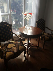 Elegant Coffee Table Set With Chairs (From Bombay)