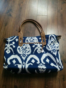 """Stella and Dot """"How Does She Do It?"""" Ikat Shoulder Bag/Tote"""