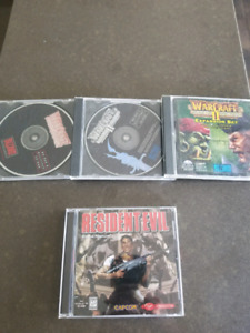 Resident evil and warcraft PC games
