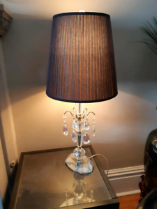 Vintage Crystal lamp base with updated shades