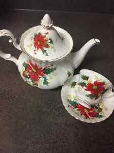 Royal Albert Christmas poinsetta China
