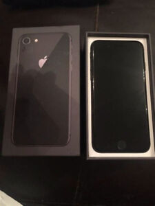 IPHONE 8 64GB BRAND NEW IN BOX WITH BILL UNLOCKED 2 WEEKS OLD