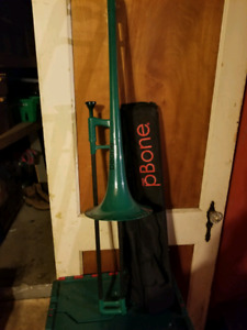 Pbone plastic trombone with mouthpiece and case