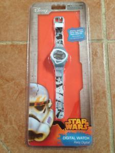 Disney Kids Star Wars Stormtrooper Digital Watch NEW IN BOX