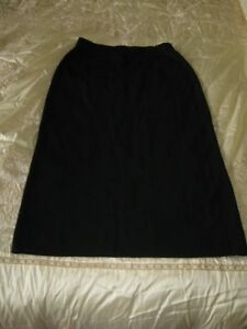 Black longer length black skirt Rayon/nylon.