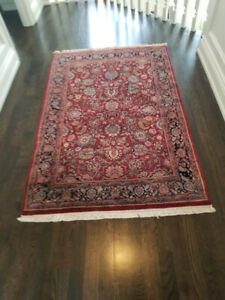 Indian Handmade Carpet Art SilkCotton Kathras Design Persian Rug