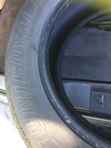 2 tires for sale for $100.00