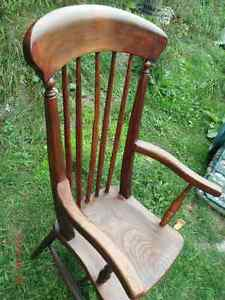 Old Oak Arm Chair all refinished Kingston Kingston Area image 2