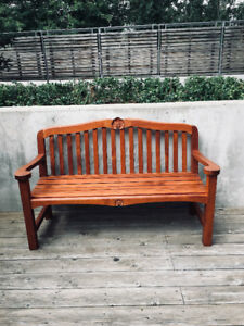 Teak wood bench with beautiful carving