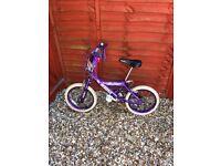 Purple child's bike