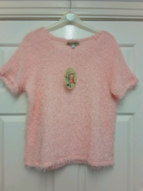 NEW LOOK SHORT SLEEVED JUMPER TOP SIZE 12 (NEW)