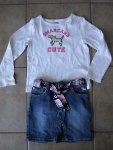Gymboree Size 5 'Smart Girls Rule Line' Outfit