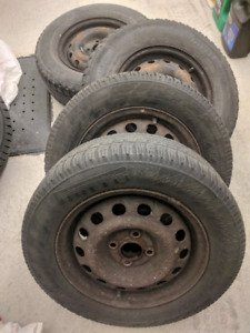 Jante, Rims 4x100 ,with4 tires,  2x 185/65R14, 2x195/70/R14