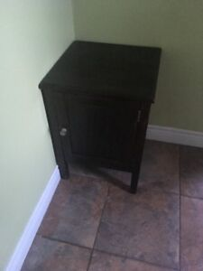 Small brown wood cabinet $10.00