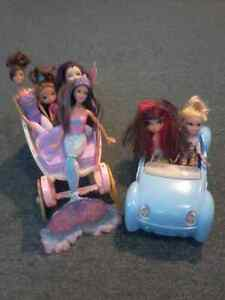 BARBIES AND VEHICHLES