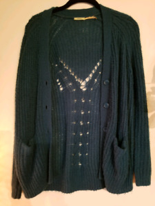 KIMCHI BLUE TEAL CARDIGAN URBAN OUTFITTERS XS