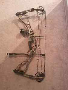 Compound bow and arrows hoyt charger 29 inch 60-70 pounds