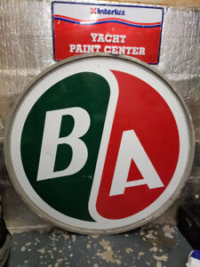 B A British American Porcelain Sign Petroliana Gas Station Oil