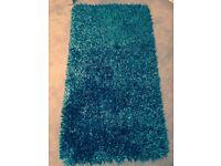 Sparkle rug in teal colour, 70x 140