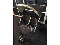 Silver cross childrens kids dolls double buggy pram pushchair