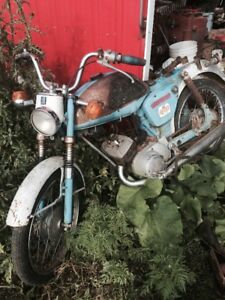 Antique Yamaha YL100 motorcycle for project