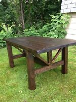 Rustic handcrafted country style table set